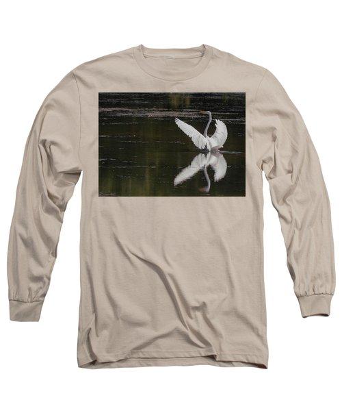 Egret Reflections Long Sleeve T-Shirt