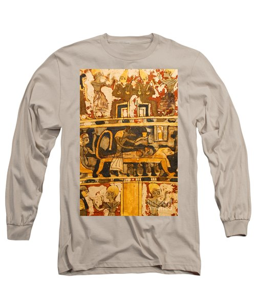 Egyptian Wall Art Long Sleeve T-Shirt
