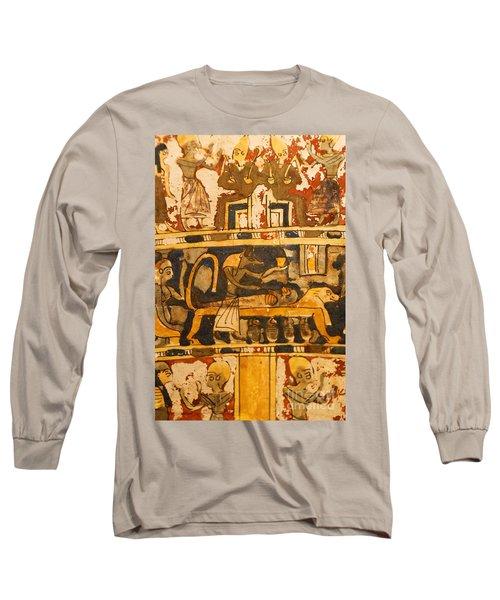 Egyptian Wall Art Long Sleeve T-Shirt