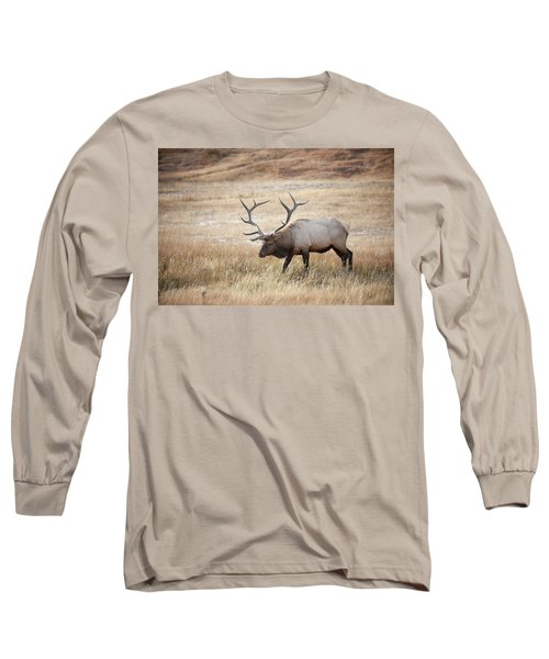 Elk In Yellowstone National Park Long Sleeve T-Shirt