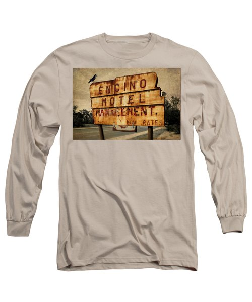 Long Sleeve T-Shirt featuring the photograph Encino Hotel by Lou Novick