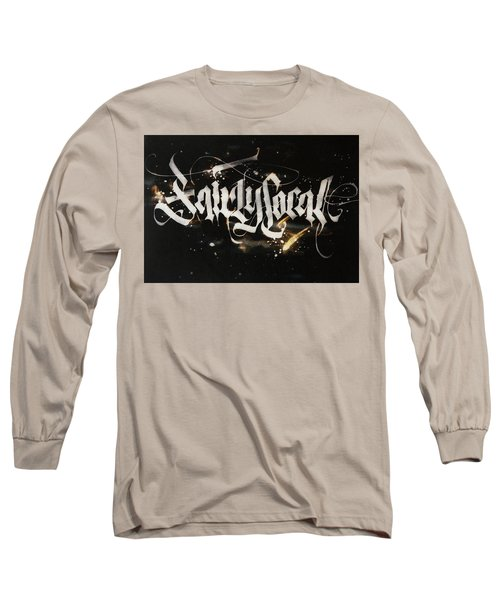 Fairly Local. Calligraphic Abstract Long Sleeve T-Shirt