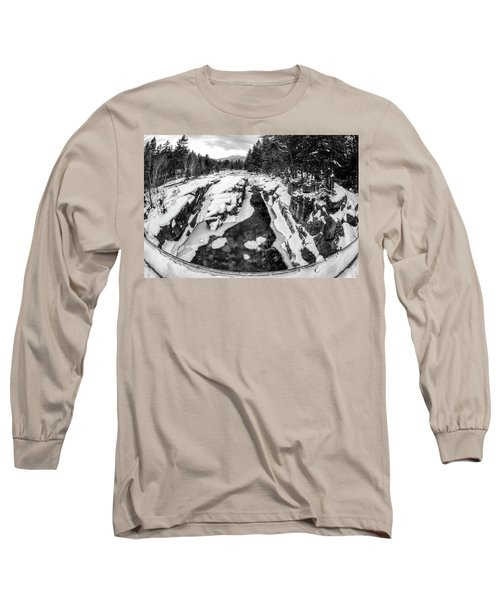 Long Sleeve T-Shirt featuring the photograph Fisheye View, Rocky Gorge Nh by Michael Hubley