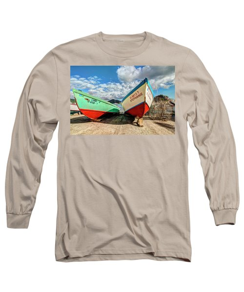 Fishing Boats In Frenchtown Long Sleeve T-Shirt