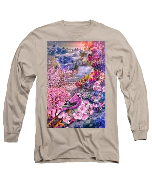 Floral Embedded Long Sleeve T-Shirt