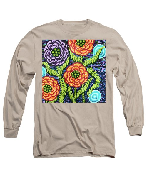 Floral Whimsy 5 Long Sleeve T-Shirt