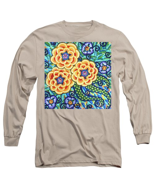 Floral Whimsy 9 Long Sleeve T-Shirt