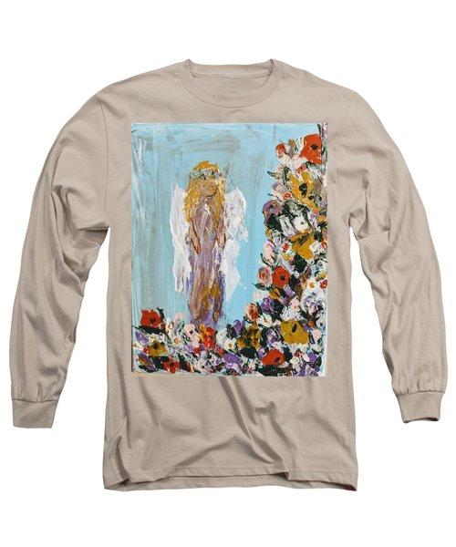 Flower Child Angel Long Sleeve T-Shirt