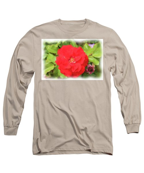 Flower Painting Long Sleeve T-Shirt