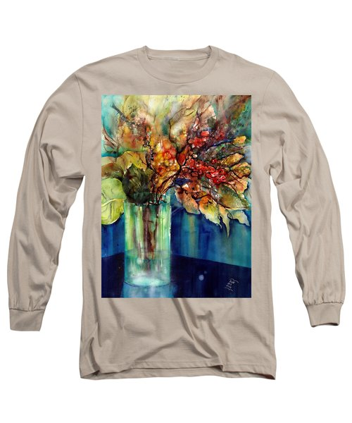 Flowers - Bouquet With Red Berries Long Sleeve T-Shirt
