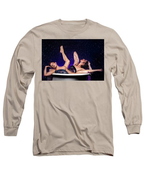 Achelois And Sister Bathing In The Galaxy Long Sleeve T-Shirt