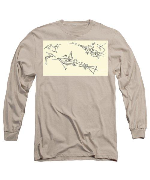 Flying Machines Designed By Leonardo Da Vinci Long Sleeve T-Shirt