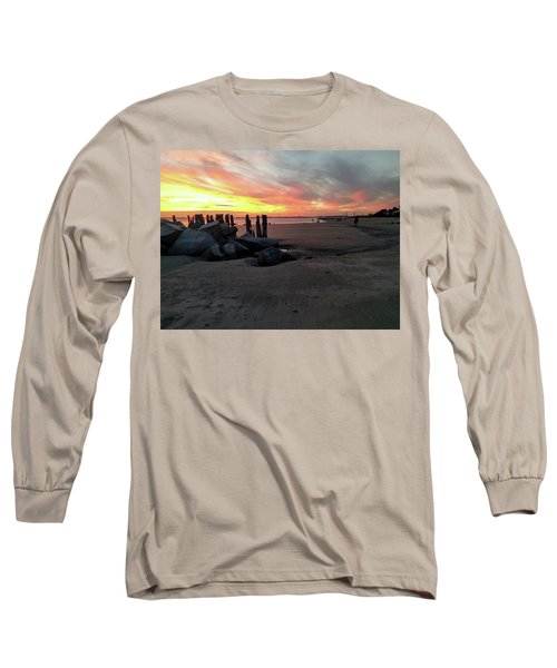 Fort Moultrie Sunset Long Sleeve T-Shirt