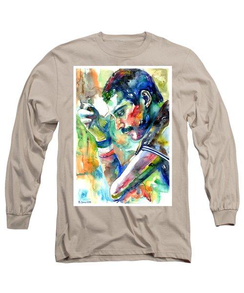 Freddie Mercury With Cigarette Long Sleeve T-Shirt