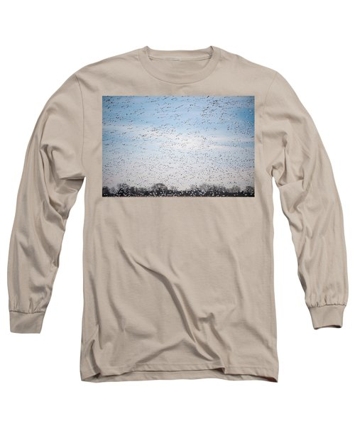 Geese In The Flyway Long Sleeve T-Shirt