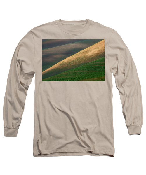 Geometric Field Abstract Long Sleeve T-Shirt