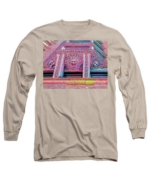 Ghoulish Gargoyles Abstract Long Sleeve T-Shirt