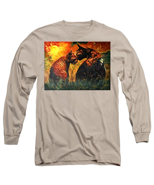 Long Sleeve T-Shirt featuring the digital art Glory Of Night by Bliss Of Art