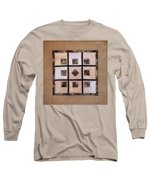 Golden Frost On The Window Long Sleeve T-Shirt