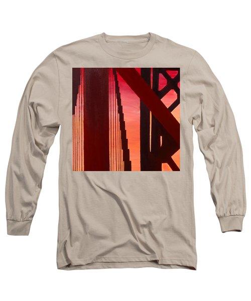 Golden Gate Art Deco Masterpiece Long Sleeve T-Shirt