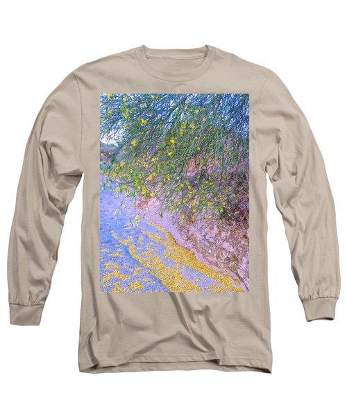 Golden Petals In A Desert Wash Long Sleeve T-Shirt