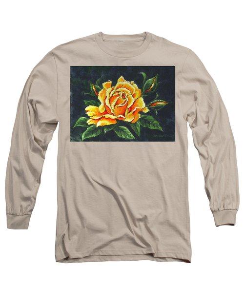 Golden Rose Sketch Long Sleeve T-Shirt