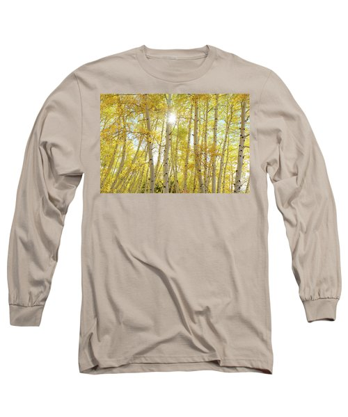 Long Sleeve T-Shirt featuring the photograph Golden Sunshine On An Autumn Day by James BO Insogna