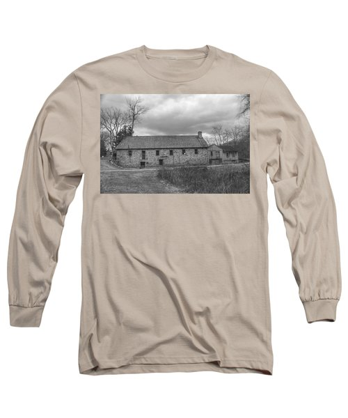 Grey Skies Over Fieldstone - Waterloo Village Long Sleeve T-Shirt