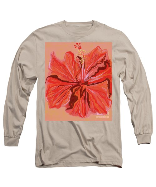 Hibiscus Color Lines Long Sleeve T-Shirt