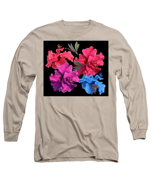 Hibiscus Dragonfly Long Sleeve T-Shirt