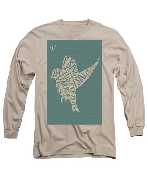 His Eye Is On The Sparrow Long Sleeve T-Shirt