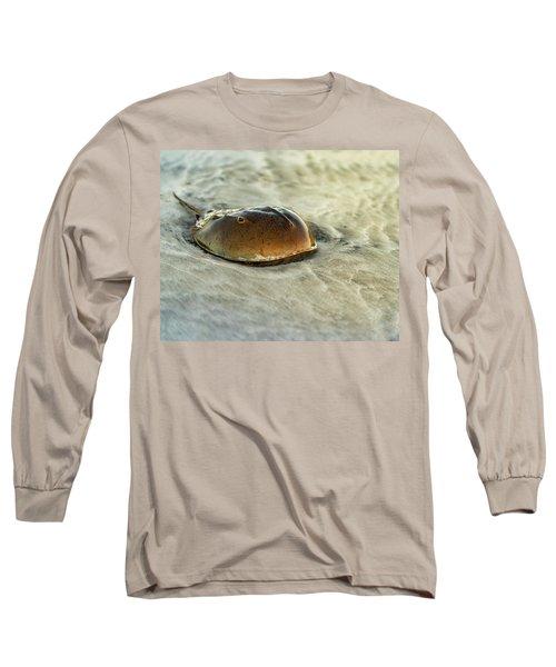Horseshoe Crab On The Beach Long Sleeve T-Shirt