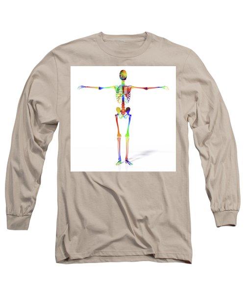 Human Skeleton Model Long Sleeve T-Shirt