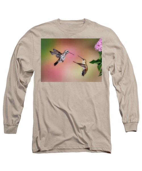 Hummingbird Battle Long Sleeve T-Shirt