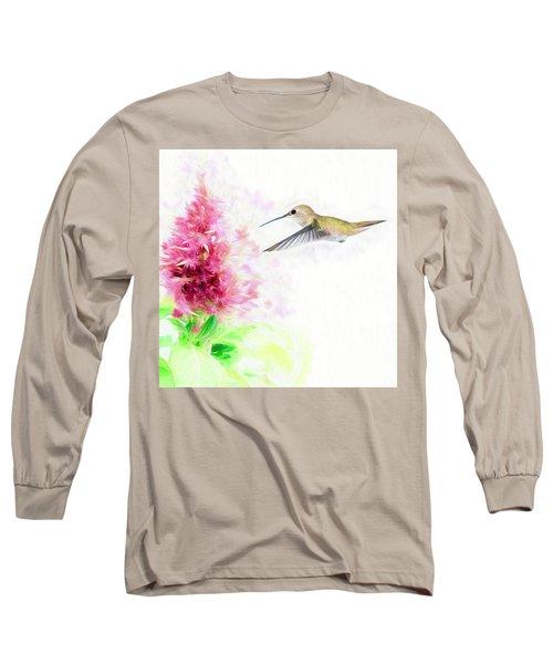 Hummingbird Pastels Long Sleeve T-Shirt