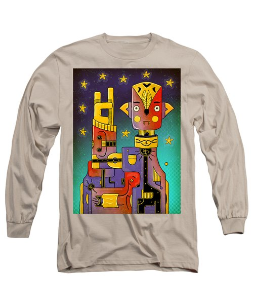 Long Sleeve T-Shirt featuring the photograph I Come In Peace - Heavy Metal by Sotuland Art