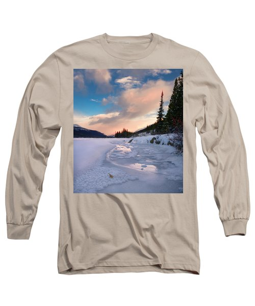 Icefields Parkway Winter Morning Long Sleeve T-Shirt