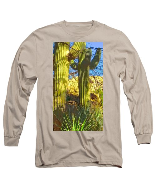 In The Shadow Of Saguaros Long Sleeve T-Shirt