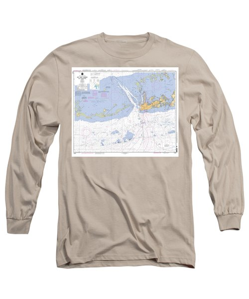 Key West Harbor And Approaches, Noaa Chart 11441 Long Sleeve T-Shirt