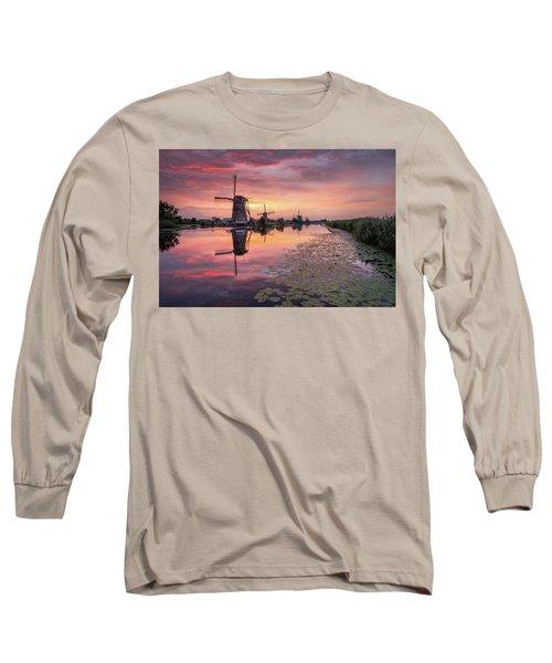 Kinderdijk Sunset Long Sleeve T-Shirt