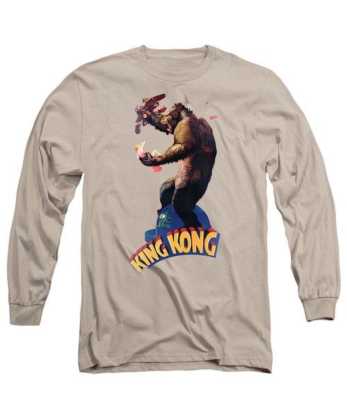 King Kong Retro Movie Poster Long Sleeve T-Shirt