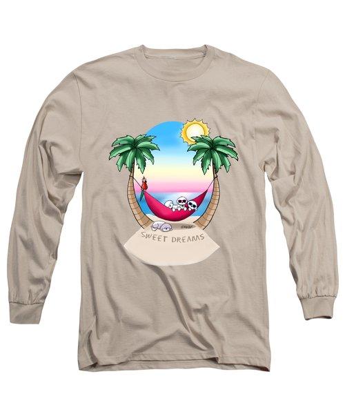 Kiniart Tropical Bichon Frise Long Sleeve T-Shirt