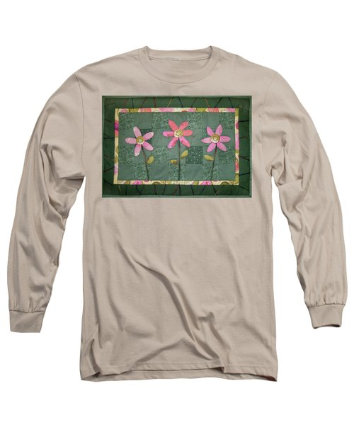 Kiwi Flowers Long Sleeve T-Shirt