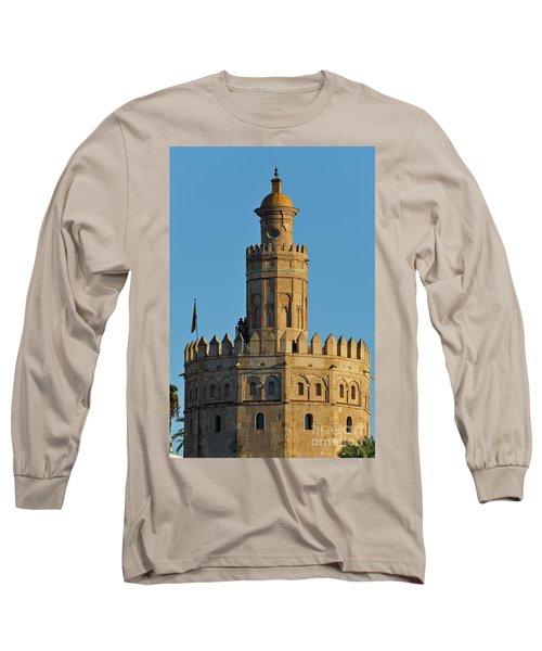 La Torre De Oro Detail. Seville Long Sleeve T-Shirt
