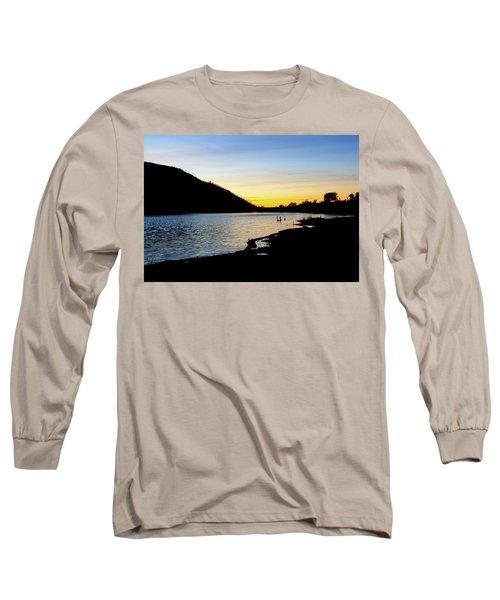 Lake Cuyamaca Sunset Long Sleeve T-Shirt
