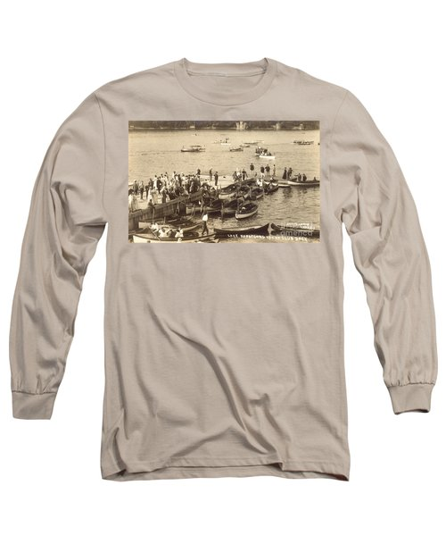 Lake Hopatcong Yacht Club Dock - 1910 Long Sleeve T-Shirt