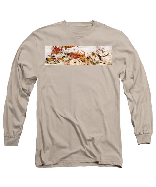 Lascaux Cows Horses And Deer Long Sleeve T-Shirt