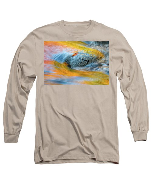 Long Sleeve T-Shirt featuring the photograph Leaf Lines Nh by Michael Hubley