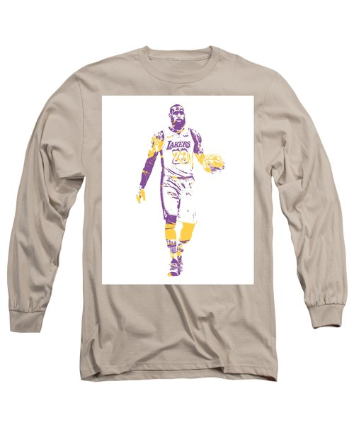 Lebron James Los Angeles Lakers Pixel Art 5 Long Sleeve T-Shirt dcb5e668d