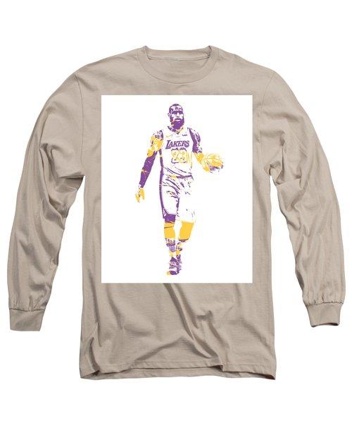 Lebron James Los Angeles Lakers Pixel Art 5 Long Sleeve T-Shirt dcb5e668d